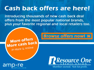 Earn Debit Card Rewards with your Resource One VISA Debit Card and Ampre